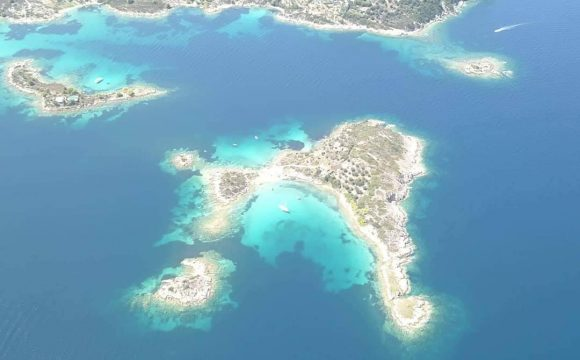 Diaporos Island Air Photo