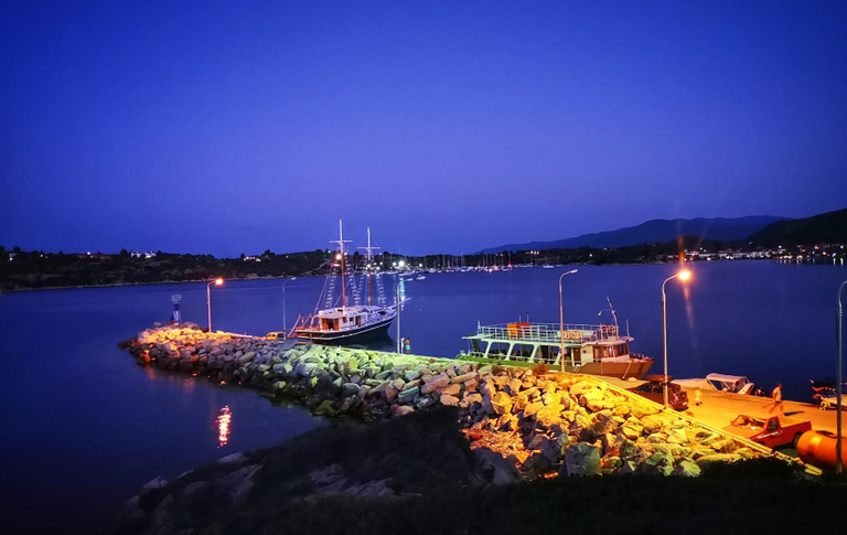 ormos panagias at night